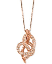 Le Vian Strawberry 'N' Vanilla Swirl Diamond Pendant Necklace 1 4 Ct. T.W. In 14K Rose Gold