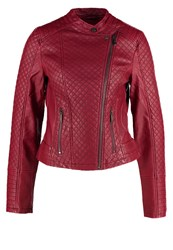 S.Oliver Faux Leather Jacket Purple Pink