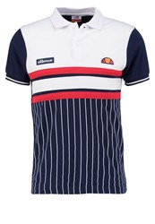 Ellesse Lorenzi Polo Shirt Dress Blues Optic White Dark Blue