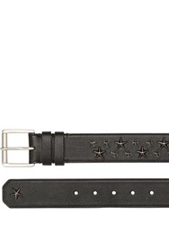 Jimmy Choo 40Mm Star Embossed Biker Leather Belt