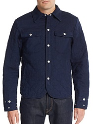 Prps Quilted Cotton Jacket Indigo