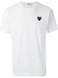 Comme Des Garcons Play Round Neck T Shirt White