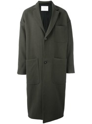 Societe Anonyme Loose Fit Oversized Coat Green