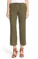 Nydj Women's 'Jamie' Relaxed Ankle Flared Pants Fatigue