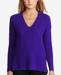 Polo Ralph Lauren Cable Knit Sweater British Purple