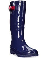Nautica Saybrook Rain Boots Women's Shoes Navy Red