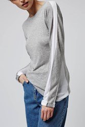 Colourblock Long Sleeve Top By Boutique Grey