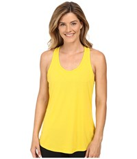 Lucy Workout Racerback Safflower Women's Clothing Yellow
