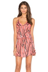 Karina Grimaldi Ollie Mini Dress Coral