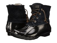 Sperry Saltwater Black Women's Lace Up Boots