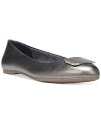 Dr. Scholl's Giselle Round Toe Ballet Flats Women's Shoes Pewter