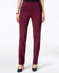 Jm Collection Petite Studded Pull On Pants Only At Macy's Maroon Dahlia
