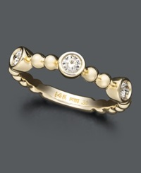Macy's Three Diamond Stackable Ring In 14K Gold 1 3 Ct. T.W.