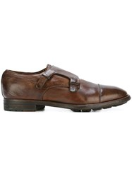 Officine Creative Monk Strap Shoes Brown