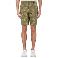Barneys New York Men's Camouflage Shorts Dark Green