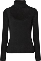 Diane Von Furstenberg Gracey Cutout Wool And Cashmere Blend Turtleneck Sweater Black