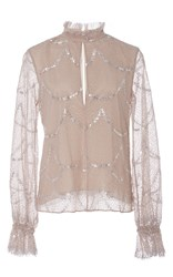 Alexis Lucy Keyhole Sequin Top Nude