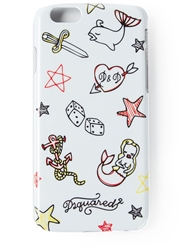Dsquared2 Printed Iphone 6 White