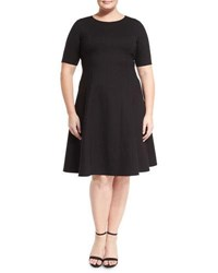 Lafayette 148 New York Corey Fit And Flare Dress Black