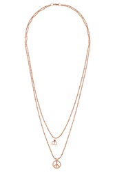 I Am By Ileana Makri Peace Snake Pendant Necklace