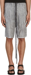 Ma Julius Grey Panelled Shorts