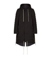 Rick Owens Drkshdw Long Parka Male Black