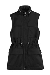 Victoria Beckham Denim Cotton Gabardine Vest Black