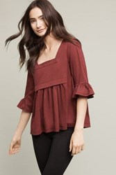 Anthropologie Ardent Swing Top Plum