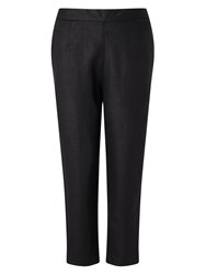 East Linen Capri Trouser Black