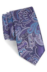 Nordstrom Men's Men's Shop Paisley Silk Tie Purple