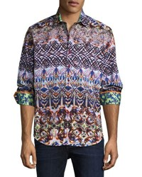 Robert Graham Dwellers Woven Button Front Shirt Multi