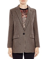 Sandro Lodger Houndstooth Blazer Multicolor