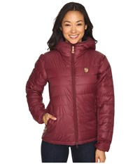 Fjall Raven Pak Down Jacket Dark Garnet Women's Jacket Tan