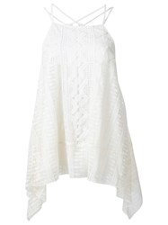Alice Olivia Alice Olivia Crochet Detailing Layered Blouse White