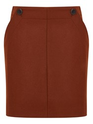 Jigsaw Pressed Flannel Buttoned Mini Brown