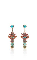 Lydia Courteille One Of A Kind Totem Pole Earrings Multi