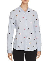 Scotch And Soda Embroidered Cotton Shirt Combo D