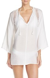 Women's Robin Piccone 'Pippa' Crochet Trim Cover Up Tunic