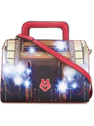 Love Moschino 'Flashes' Print Crossbody Bag Red