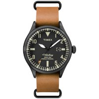 Timex Waterbury Watch Black And Tan
