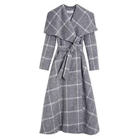 Hobbs Rosemary Check Coat Grey