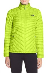 The North Face Women's 'Thermoball Tm ' Primaloft Front Zip Jacket Sharp Green