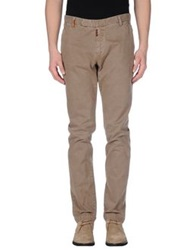 Original Vintage Style Casual Pants Light Brown