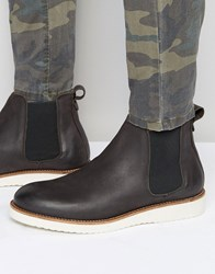 Selected Homme Rud Leather Chelsea Boots Grey Black