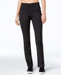 Calvin Klein Performance Boot Cut Compression Leggings Noir Heather