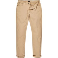 River Island Mens Light Brown Jimmy Slim Tapered Jeans