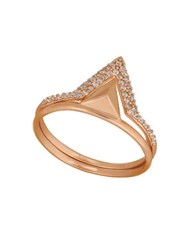 Lucky Brand Double Triangle Ring Rose Gold