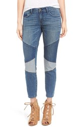 Sun And Shadow Women's Patchwork Crop Skinny Jeans