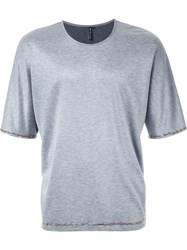 Wan Hung Cheung Crystal Embellished T Shirt Grey