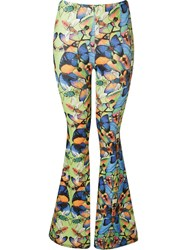 Blue Man Butterfly Flared Trousers
